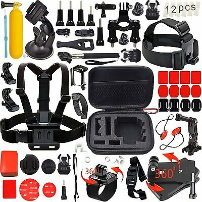 Go Pro Hero 4 5 Accessory Kit Session Sport Drive Ride Bike Camping Action Climb