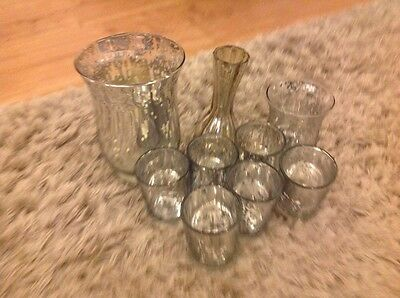 Joblot Mercury Wedding Party Tea Light Holders Candle Votive Decoration