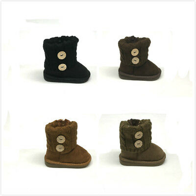 Brand New Infant/Toddler Baby Girl's Winter Fashion Boots Size 4 - 9