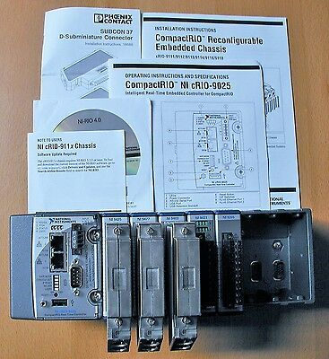 National Instruments NI cRIO-9025 Real Time Controller 8 Slot Chassis With I/O's