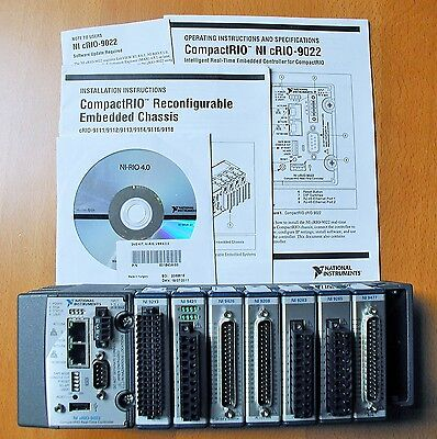 National Instruments NI cRIO-9022 Real Time Controller 8 Slot Chassis With I/O's