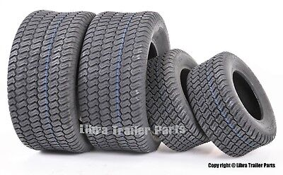 Set of 4 New Lawn Mower Turf Tires 15x6-6 Front & 20x10-8 Rear /4PR -13016-13040