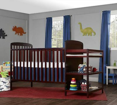 Baby Cribs With Changing Table Combo Convertible 4 In 1 Bed Dream On Me Cherry