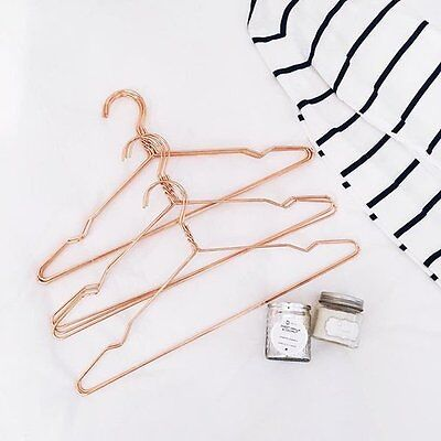 Lovely COPPER Metal Wired Stylish Coat Clothing Hangers