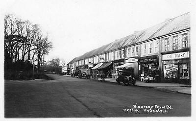 Vicarage Farm Road Heston Hounslow RP pc  used 1932 Ref A58