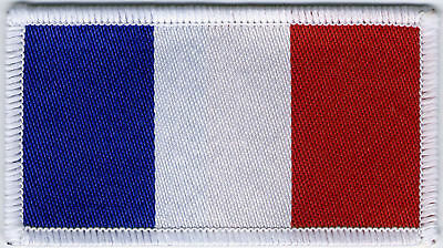 French Flag, Woven Badge, Patch 8cm x 4.5cm