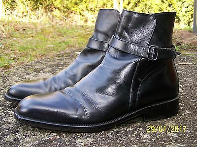Bottines Heyraud Cuir Noires Homme Taille 43.