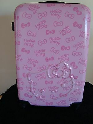 """Sanrio Hello Kitty Pink 24"""" Rolling Luggage Suitcase"""