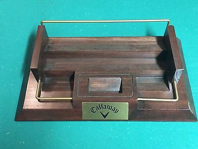 Callaway Golf Wooden Counter Top Display For Packages Golf Balls Cards Display