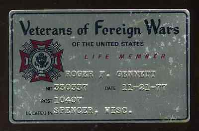 Where can you find information on Veterans of Foreign Wars membership fees?