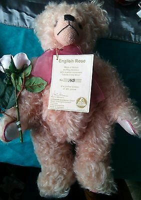 Rare Hermann English Rose bear with candle in the wind music