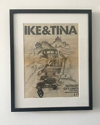 1973 Ike & Tina Turner Nutbush City Limits Original Vintage Poster Ad Framed