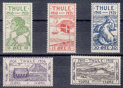 Greenland Thule 1935/6 Yt: 1/5 Complete Mnh