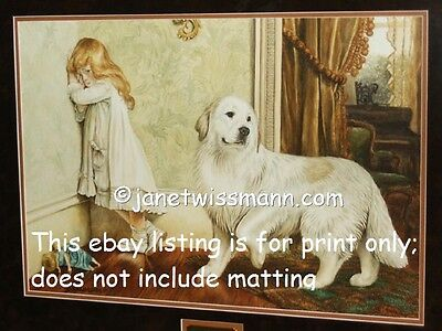 S/N Large FINE-ART PAINTING PRINT Ltd.Ed Great Pyrenees Pyrenean Mountain Dog