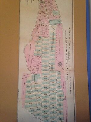 Antique Map Of Manhattan Common Lands Between 3 And 6 Mile Stones 1861