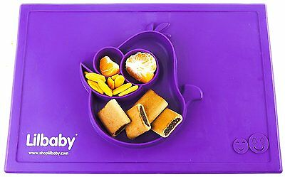 Placemat and Plate Suction Silicone by Lilbaby Bird, Purple