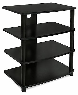 Mount-It! Media Stand Furniture for Home Entertainment Centers 4 Wood Shelves...