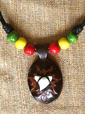 Shark tooth on leather necklace pendant Real sharks teeth N0245