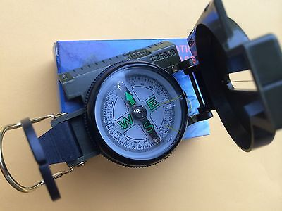 NEW Pocket Lensatic Compass Travel Camping US Military Utility Tactical Survival