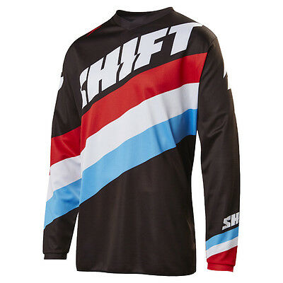 2017 Shift MX Mens WHIT3 Tarmac Jersey - Black Motocross Offroad Trail Enduro