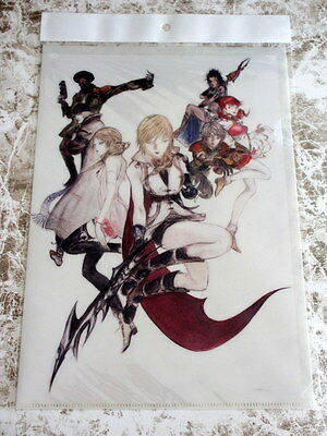 Final Fantasy SQUARE ENIX Official Clear File NEW XIII Yoshitaka Amano Lightning