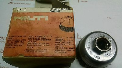 """HILTI WIRE BRUSH 3"""" STAINLESS STEEL KNOTTED CUP part -041367-"""