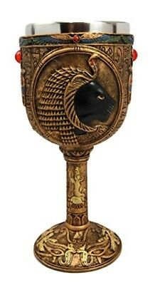 Fantasy Collection Ancient Egyptian Goddess Sekhmet 6oz Goblet Cup Home Decor