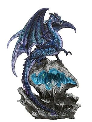 Checkmate Dragon with LED Light Frozen Blue Crystal Mountain 12.5H Fantasy