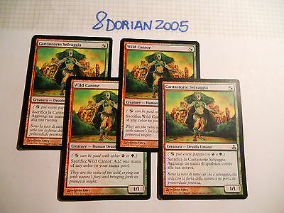 4x MTG Wild Cantor-Cantastorie Selvaggia Magic EDH GUI Guildpact ITA-ING Modern