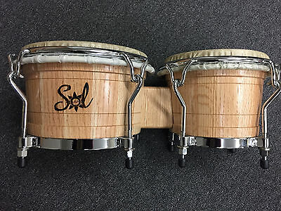 Sol Percussion USA Pro Bongos Red Oak Natural Finish $389.99