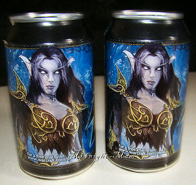 2 - FULL SEALED Cans - Mountain Dew WORLD of WARCRAFT Game Fuel- Dec. 2009 -Mtn.