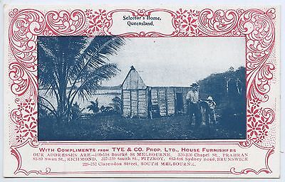 C.1908 Npu Advertising Postcard Selectors Home Qld Tye & Co House Furnishers A93
