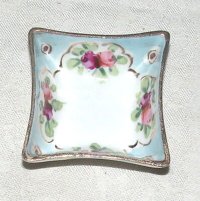 """Hand-painted 2.1/4"""" Square Porcelain Dish"""