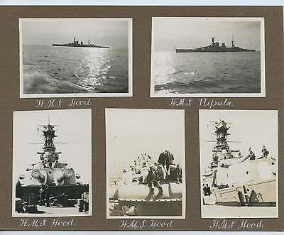 1924 Album Page 5 Photos Hms Hood & Repulse Visit Port Adelaide South Aust. A90