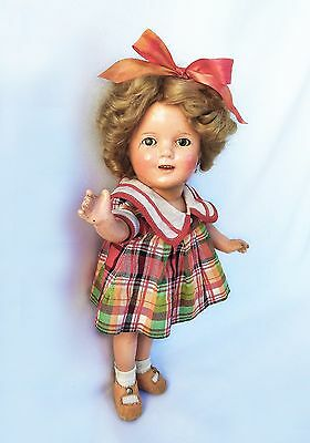 "JUST LOVELY Circa 1930 Vintage Shirley Temple 13"" Composition Doll."