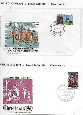 Australian Decimal First Day Covers (1970-71)