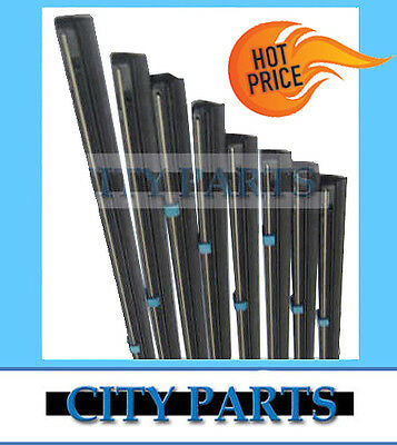 "12 x NEW METAL BACK WIPER BLADE INSERTS REFILLS 6MM 24"" UNIVERSAL TWIN RAIL"