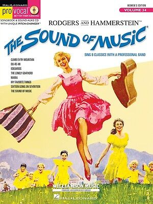 The Sound of Music Pro Vocal Music Book, Women's Edition - Volume 34