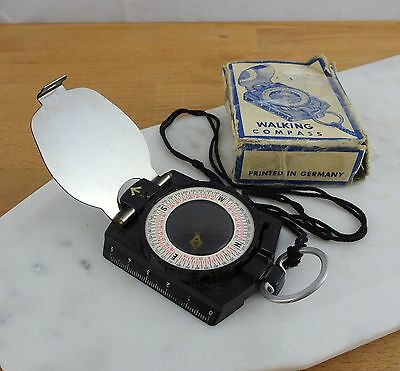 Vintage Walking Compass / The Reliable Compass Made in Germany with Box