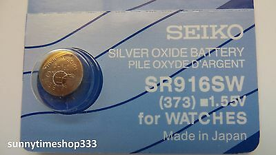 SR916SW/373, Seiko Watch Battery , Made in Japan, Silver Oxide, 1.55V