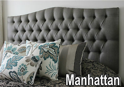 Bed Head Queen Size Diamond Pleated Buttoned Upholstered Bedhead / Headboard