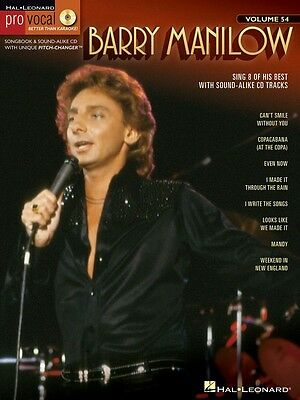Barry Manilow - Pro Vocal Men's Edition Music Book with CD - Volume 54