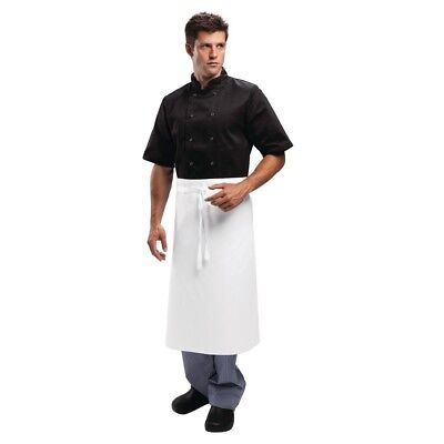 Whites Chefs Apparel Regular Waist Apron White Kitchen Catering Cooking Serving