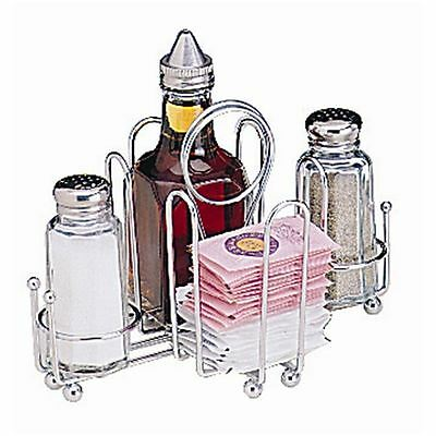 Table Organiser Chrome Plated Wire Holder Storage Rack Tableware Tabletop