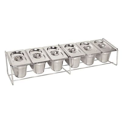 Vogue Wire Stand Kitchenware Cooking Storage Rack Food Container Pan Set
