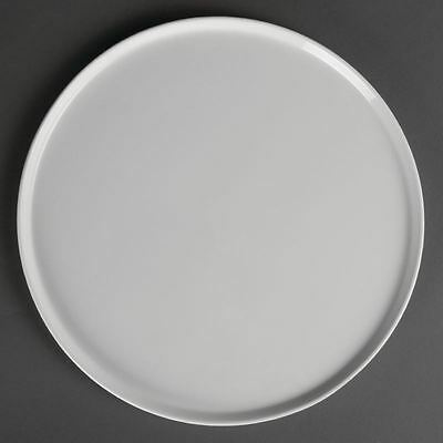 4x Olympia Whiteware Pizza Plates 330mm Serving Kitchen Tableware Restaurant