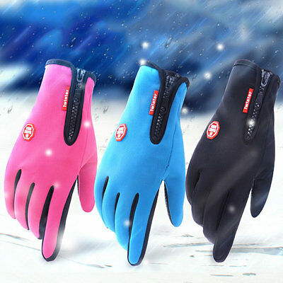 Women Men Motorcycling Touchscreen Winter Outdoor Riding Waterproof Gloves AU