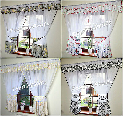 Stunning Voile Net Curtains Ready Made Living Dining Room New