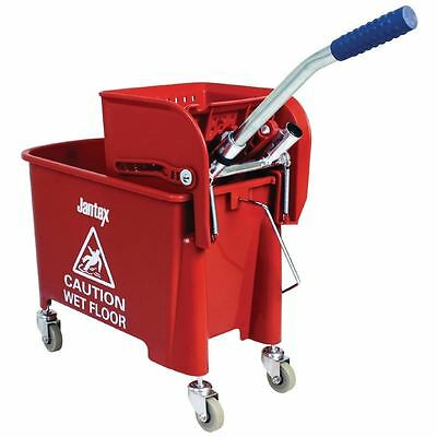 Jantex Bucket And Wringer Red 630X670X270mm 20Ltr Cleaning With Handle