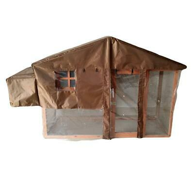 Malaga Large Chicken Coop With Run And Nest Box Hen Duck Rabbit House Hutch Home